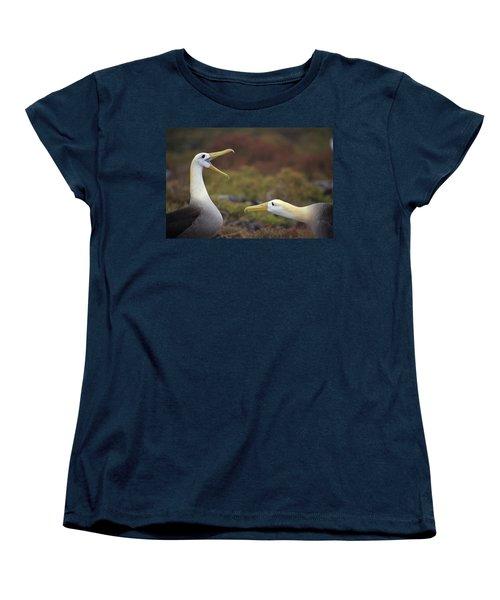 Waved Albatross Courtship Display Women's T-Shirt (Standard Cut) by Tui De Roy