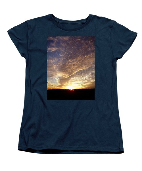 Women's T-Shirt (Standard Cut) featuring the photograph Wild Sky 2 by Cynthia Lassiter