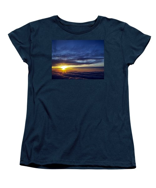 Women's T-Shirt (Standard Cut) featuring the photograph Winter Dawn Over New England by Greg Reed