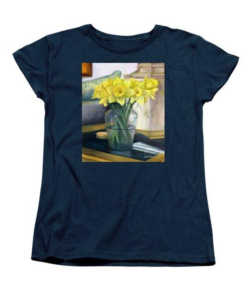 Yellow Daffodils Women's T-Shirt (Standard Cut) by Marlene Book