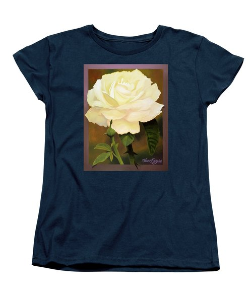 Yellow Rose Women's T-Shirt (Standard Cut) by Blue Sky