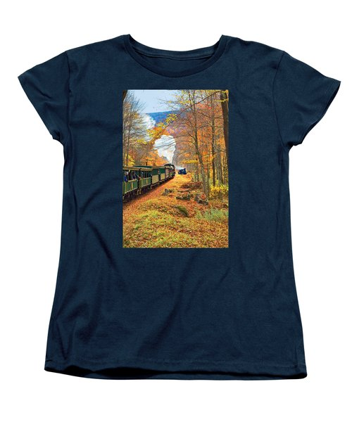 Cass Scenic Railroad Women's T-Shirt (Standard Cut) by Mary Almond
