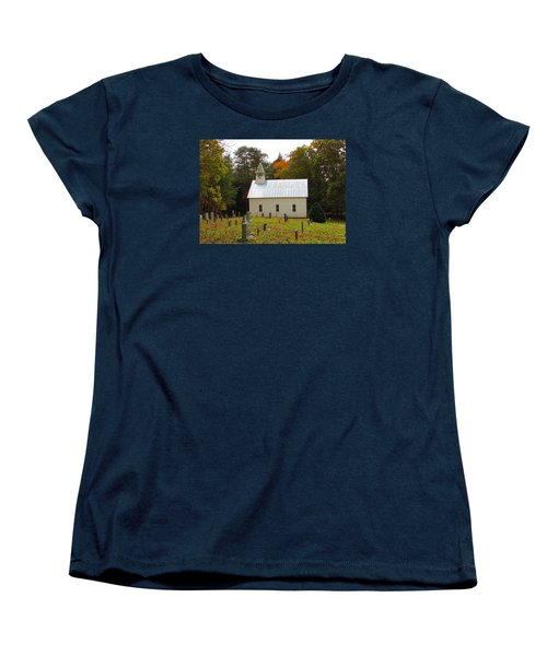 Cade's Cove 1902 Methodist Church Women's T-Shirt (Standard Cut) by Kathy Long