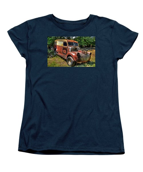 Women's T-Shirt (Standard Cut) featuring the photograph 1941 Chevy Van by Paul Mashburn