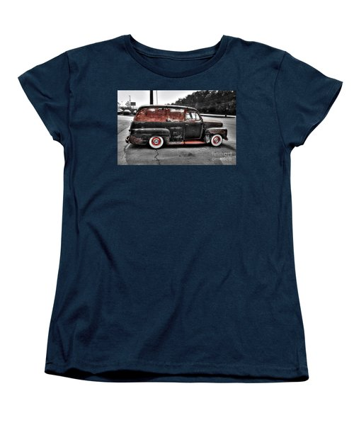 Women's T-Shirt (Standard Cut) featuring the photograph 1948 Ford Panel Truck by Paul Mashburn
