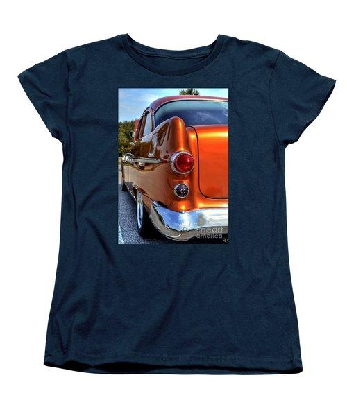 Women's T-Shirt (Standard Cut) featuring the photograph 1955 Pontiac by Kathy Baccari