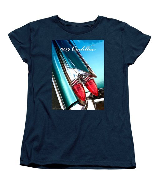 1959 Cadillac  Women's T-Shirt (Standard Cut) by David Perry Lawrence