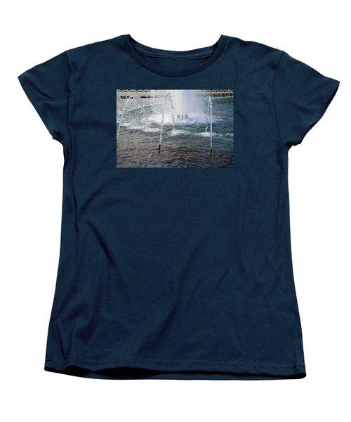Women's T-Shirt (Standard Cut) featuring the photograph A World War Fountain by Cora Wandel