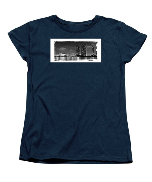 Women's T-Shirt (Standard Cut) featuring the photograph American Airlines Arena And Condominiums by Carsten Reisinger