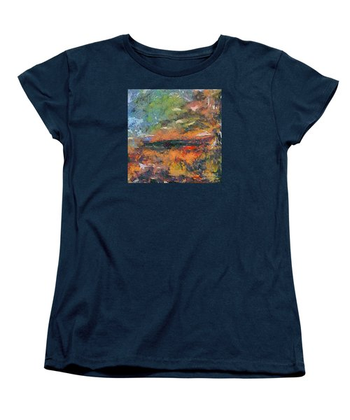 Women's T-Shirt (Standard Cut) featuring the painting At Dawn by Dragica  Micki Fortuna