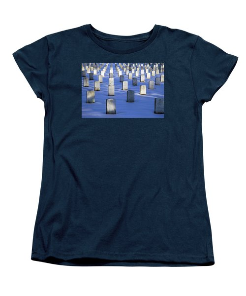 Women's T-Shirt (Standard Cut) featuring the photograph Beneath The Snow by Cora Wandel