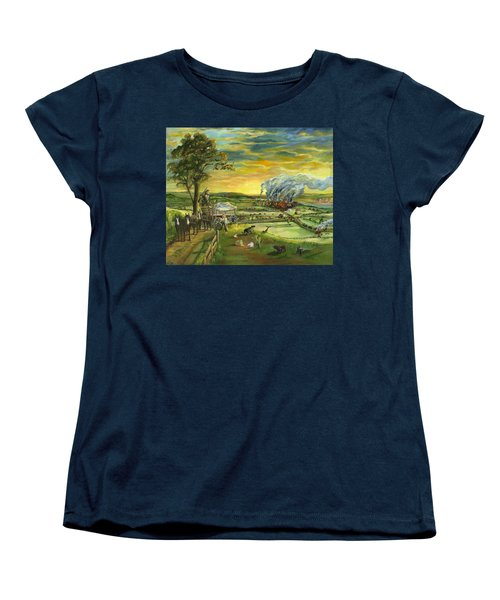 Bleeding Kansas - A Life And Nation Changing Event Women's T-Shirt (Standard Cut) by Mary Ellen Anderson