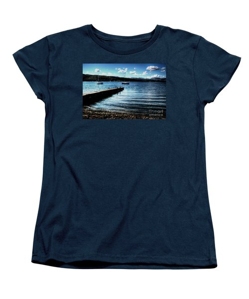 Women's T-Shirt (Standard Cut) featuring the photograph Boats In Wales by Doc Braham