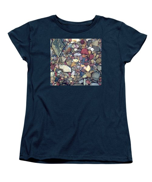 Women's T-Shirt (Standard Cut) featuring the photograph Colorful Lake Rocks by Kerri Mortenson