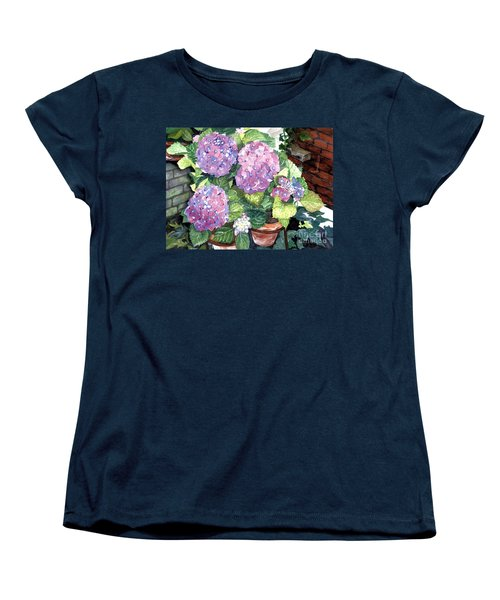 Corner Garden Women's T-Shirt (Standard Cut) by Barbara Jewell