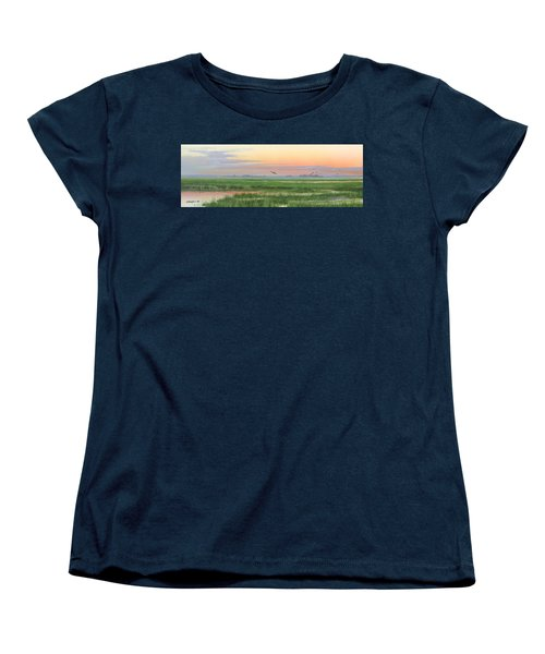 Women's T-Shirt (Standard Cut) featuring the painting Divine Whisper by Mike Brown