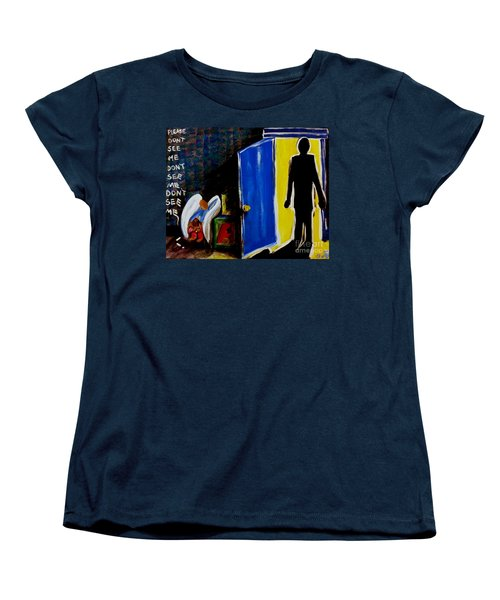 Don't See Me Women's T-Shirt (Standard Cut) by Jackie Carpenter