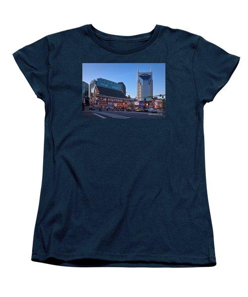 Downtown Nashville Women's T-Shirt (Standard Cut) by Brian Jannsen