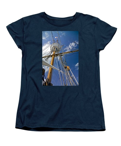 Women's T-Shirt (Standard Cut) featuring the photograph Elizabeth II Mast Rigging by Greg Reed