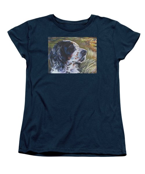 English Setter Women's T-Shirt (Standard Cut) by Lee Ann Shepard