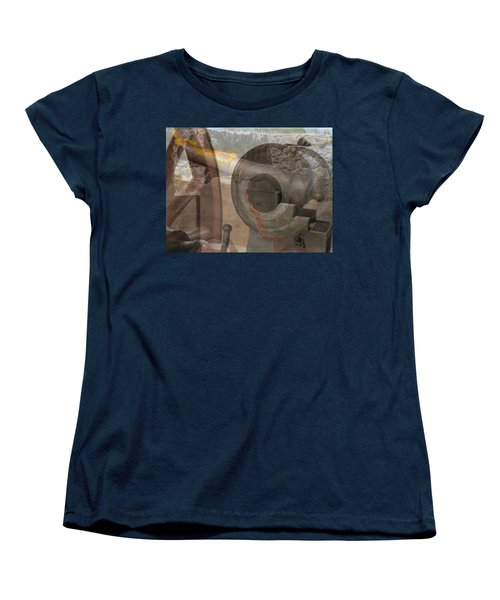 Women's T-Shirt (Standard Cut) featuring the photograph Fire In The Hole by Ella Kaye Dickey