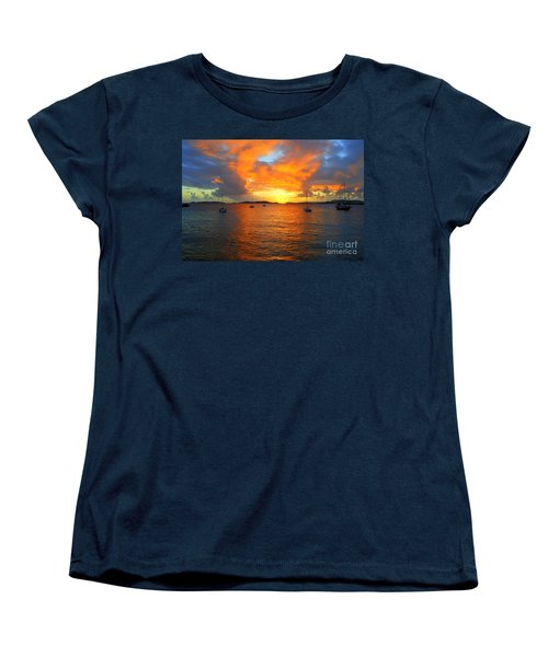 Frank Bay St. John U. S. Virgin Islands Sunset Women's T-Shirt (Standard Cut)