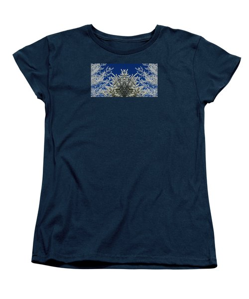 Women's T-Shirt (Standard Cut) featuring the photograph Frosty by Janice Westerberg
