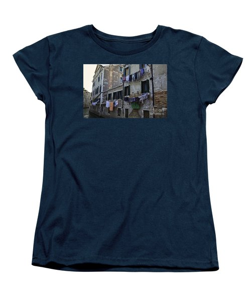 Hanging Out To Dry In Venice Women's T-Shirt (Standard Cut) by Madeline Ellis