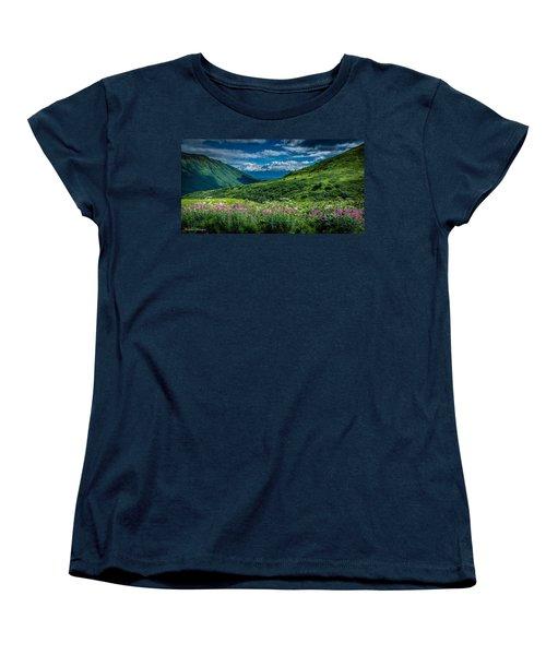 Hatcher's Pass Women's T-Shirt (Standard Cut) by Andrew Matwijec