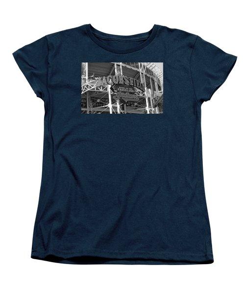 Jacobs Field - Cleveland Indians Women's T-Shirt (Standard Cut) by Frank Romeo