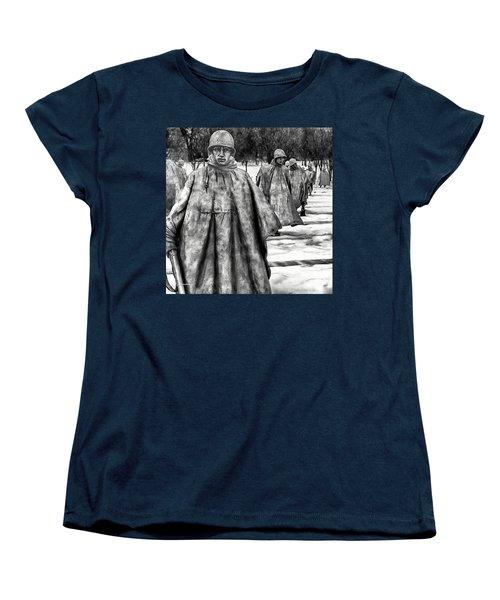 Korean War Memorial Washington Dc Women's T-Shirt (Standard Cut) by Bob and Nadine Johnston