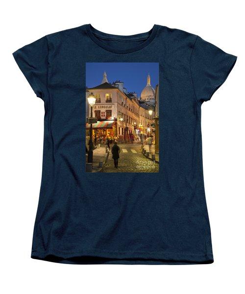Montmartre Twilight Women's T-Shirt (Standard Cut) by Brian Jannsen