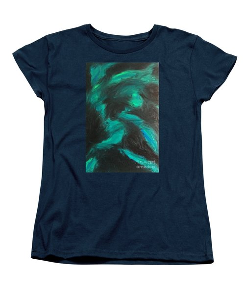 Women's T-Shirt (Standard Cut) featuring the painting Northern Light by Jacqueline McReynolds