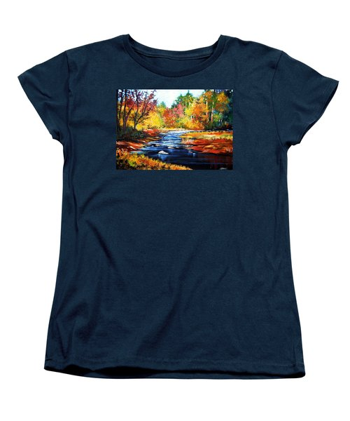 Women's T-Shirt (Standard Cut) featuring the painting October Bliss by Al Brown