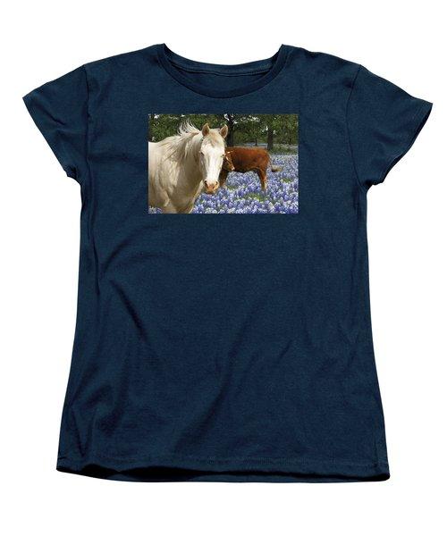 Old Friends Women's T-Shirt (Standard Cut) by Susan Rovira