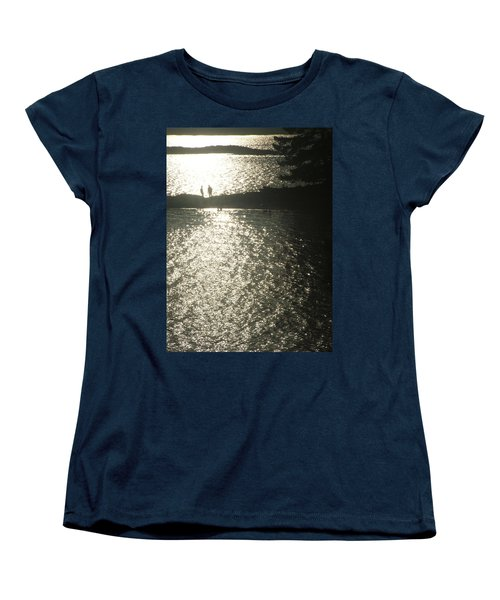 Women's T-Shirt (Standard Cut) featuring the photograph 2 At The Beach by Mark Alan Perry