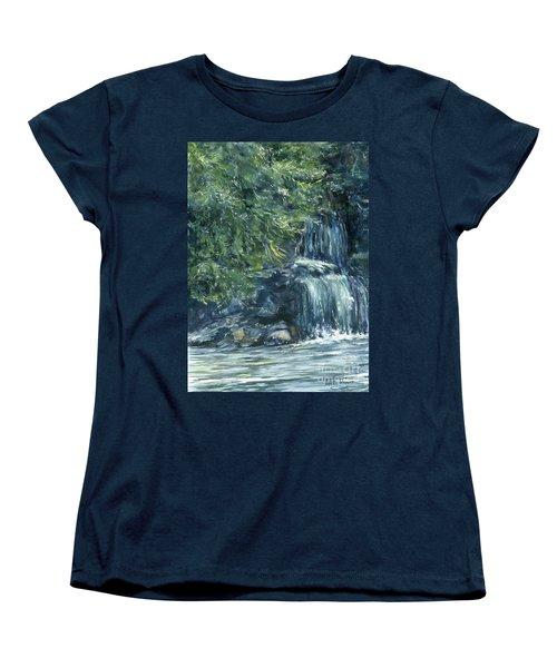 Oregon Waterfall Women's T-Shirt (Standard Cut) by Lynne Wright