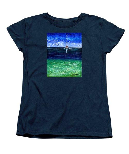 Peaceful Women's T-Shirt (Standard Cut) by Laura Forde
