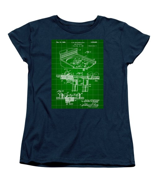 Pinball Machine Patent 1939 - Green Women's T-Shirt (Standard Cut) by Stephen Younts