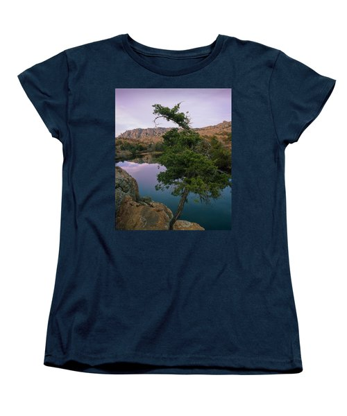 Post Oak Lake And Elk Mountain Women's T-Shirt (Standard Cut)
