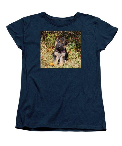 Pretty Puppy Women's T-Shirt (Standard Cut) by Sandy Keeton