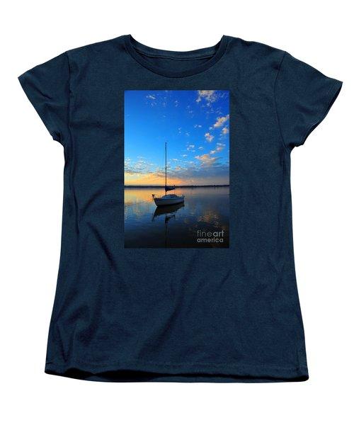 Women's T-Shirt (Standard Cut) featuring the photograph Sailing 2 by Terri Gostola