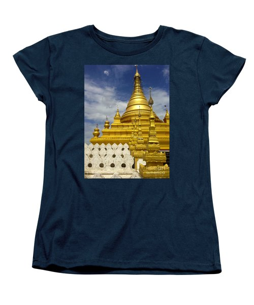 Women's T-Shirt (Standard Cut) featuring the photograph Sandamuni Pagoda Mandalay Burma by Ralph A  Ledergerber-Photography