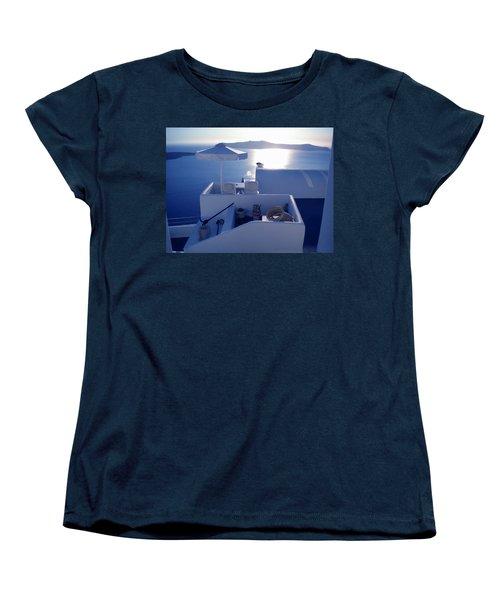 Santorini Island Greece Women's T-Shirt (Standard Cut) by Colette V Hera  Guggenheim