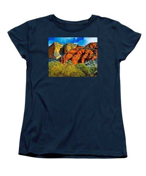 Women's T-Shirt (Standard Cut) featuring the photograph Sedona Arizona - Wilderness Area by Bob and Nadine Johnston
