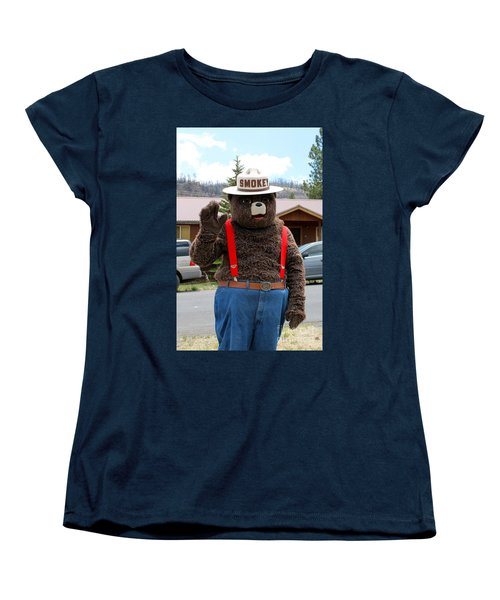 Smokey The Bear Women's T-Shirt (Standard Cut) by Pamela Walrath