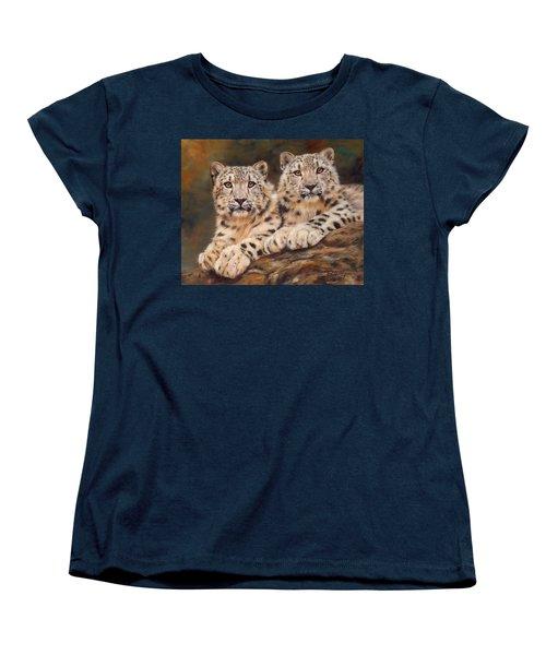 Snow Leopards Women's T-Shirt (Standard Cut)