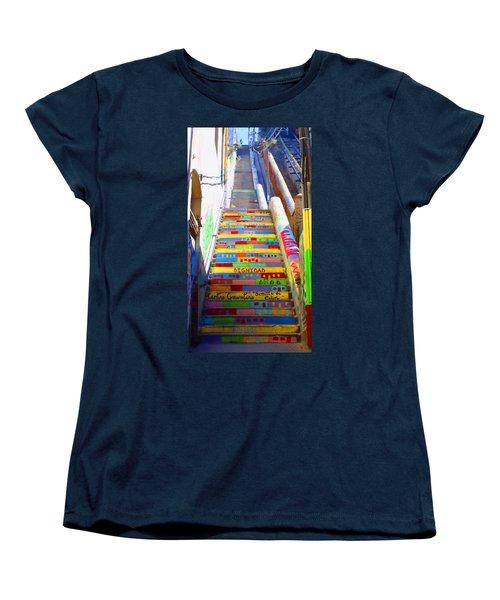 Stairway To Heaven Valparaiso  Chile Women's T-Shirt (Standard Cut) by Kurt Van Wagner