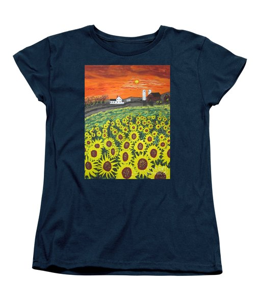 Sunflower Valley Farm Women's T-Shirt (Standard Cut) by Jeffrey Koss