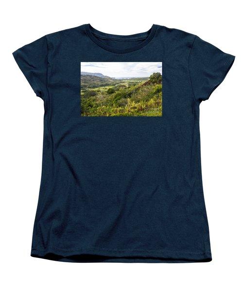 Taro Fields Women's T-Shirt (Standard Cut) by Suzanne Luft